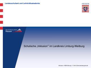 Inklusion- KEB-Sitzung 1.7.2013 Senckenbergschule