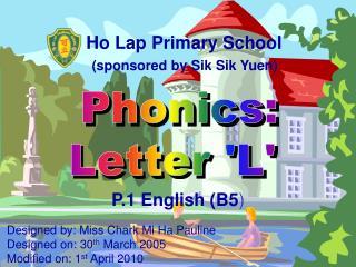Phonics: Letter 'L'