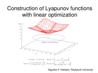 Construction of Lyapunov functions with linear optimization