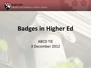Badges in Higher Ed