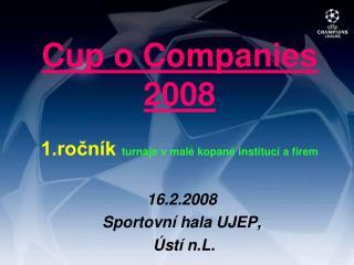 Cup o Companies 2008 1.ročník  turnaje v malé kopané institucí a firem