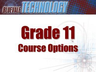 Grade 11 Course Options