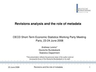 Revisions analysis and the role of metadata