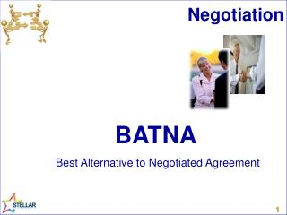 BATNA Best Alternative to Negotiated Agreement