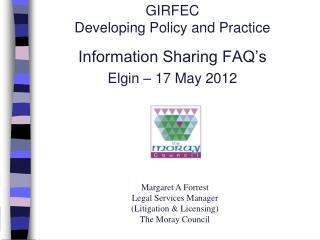 GIRFEC  Developing Policy and Practice