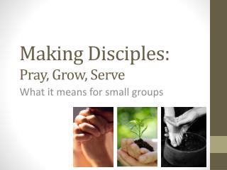 Making Disciples:  Pray, Grow, Serve