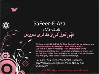 SaFeer-E-Aza