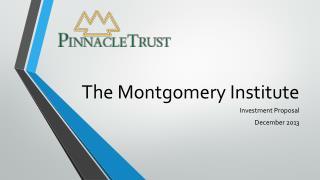 The Montgomery Institute