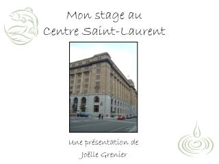 Mon stage au  Centre Saint-Laurent