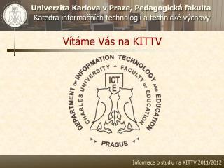 Vítáme Vás na KITTV