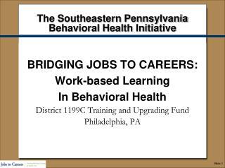 The Southeastern Pennsylvania  Behavioral Health Initiative