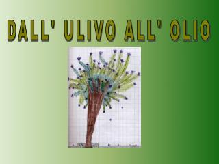 DALL' ULIVO ALL' OLIO