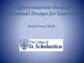 Differentiation through Universal Design for Learning