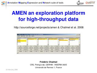 AMEN an exploration platform for high-throughput data