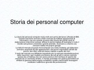 Storia dei personal computer