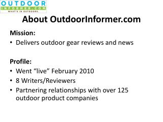 About OutdoorInformer