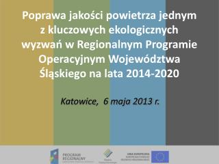 Katowice,  6 maja 2013 r.