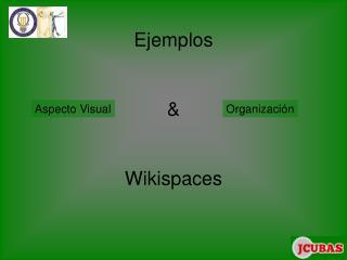 Ejemplos  & Wikispaces