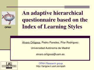 An adaptive hierarchical questionnaire based on the Index of Learning Styles