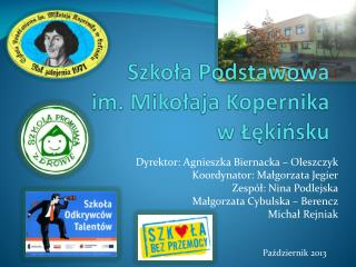 Szkoła Podstawowa  im. Mikołaja Kopernika  w Łękińsku