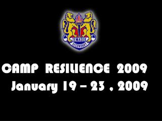 CAMP  RESILIENCE  2009    January 19 – 23 , 2009