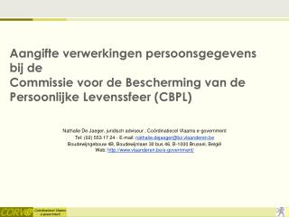 Nathalie De Jaeger, juridisch adviseur , Coördinatiecel Vlaams e-government