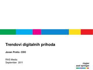 Trendovi digitalnih prihoda Jovan Protic- CDO