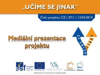 Mediální prezentace projektu