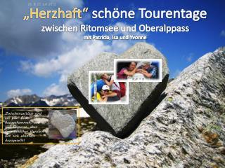 """""""Herzhaft""""  schöne Tourentage zwischen  Ritomsee  und Oberalppass m it Patricia, Isa und Yvonne"""