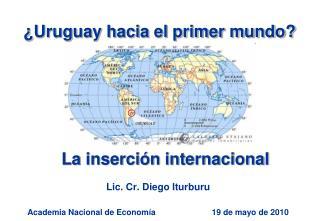 Lic. Cr. Diego Iturburu  Academia Nacional de Economía                         19 de mayo de 2010