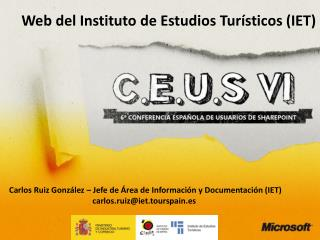 Web del Instituto de Estudios Turísticos (IET)