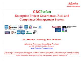 GRC Perfect Enterprise Project Governance, Risk and Compliance Management System