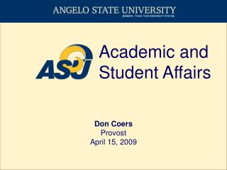 Academic and Student Affairs