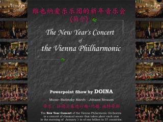 The New Year's Concert of  the Vienna Philharmonic