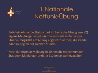 1.Nationale  Notfunk-Übung