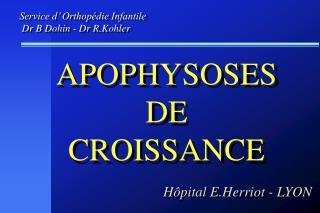 APOPHYSOSES   DE  CROISSANCE