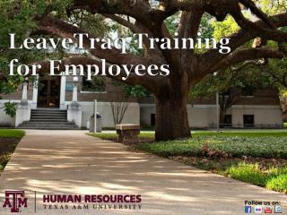LeaveTraq  Training  for Employees