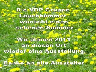 VDP-Gruppe Lauchhammer Unsere Ausstellung 02. Mai 2010 Vorbereitung und Ausstellung