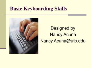 Basic Keyboarding Skills