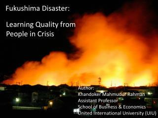 Fukushima Disaster: