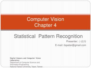 Computer Vision Chapter 4