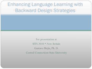 Enhancing Language Learning with Backward Design Strategies