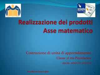 Realizzazione dei prodotti Asse matematico