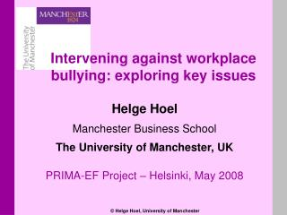 Helge Hoel Manchester Business School The University of Manchester, UK