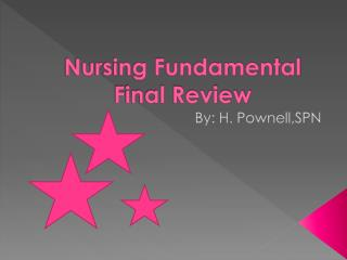 Nursing Fundamental Final Review