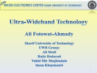 Ultra-Wideband Technology