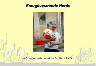 Energiesparende Herde