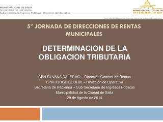 5° Jornada de Direcciones de Rentas  Municipales