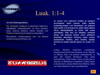 Luuk. 1:1-4
