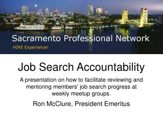 Job Search Accountability